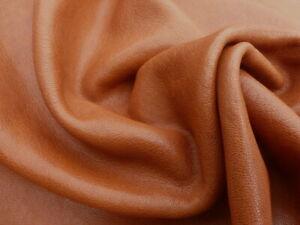 Goatskin leather hide Stone Washed Cognac Brown 2 1/2-3 oz
