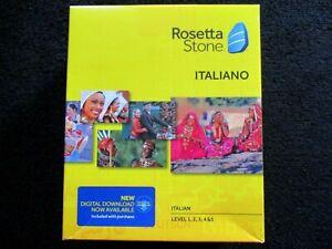 ROSETTA STONE Italian Version 4 Level 1, 2, 3, 4, 5 (1-5) Italiano