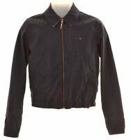TOMMY HILFIGER Girls Harrington Jacket 13-14 Years Medium Navy Blue Cotton  JS09