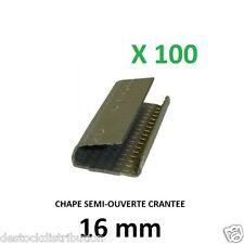 Chape de cerclage crantée 16 mm OR4000 pour feuillard plastique (par 100)