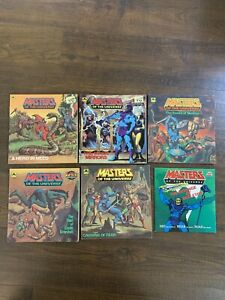 6x Masters of the Universe Vintage Golden Super Adventure Book Mattel 1983