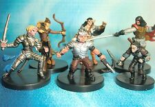 Dungeons & Dragons Miniatures Lot  Player Character Party Unique !!  s114