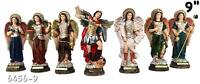"7 Archangels 9"" Inch Statue Brand New Religious Figure Saint Michael Full Set"