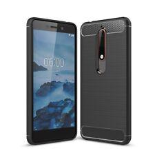 Coverkingz Nokia 6.1 (2018) Funda Premium Carbono Brushed Cover Funda Elegante