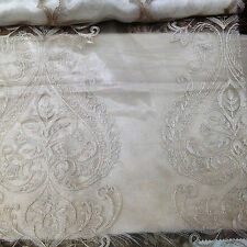 beautiful Ivory Embroidery sheers for drapery