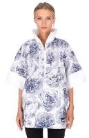 Adidas Stella McCartney Jacket Medium Floral White Blue Pull-on Run Casual Roses