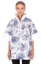 adidas Stella McCartney Jacket Small Floral White Blue Pull-on Run Casual Roses