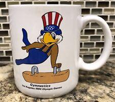 Vtg 1984 Olympics XXIII Mug Los Angeles USA Gymnastics Pommel Horse Coffee Cup