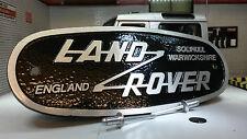 Land Rover Defender Alluminio Mascherina OEM Heritage Pannello Frontale Emblema