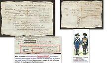 """Billet 1796 signature Maçonnique: """"Garde CONQ"""" réquisition blé MAGASIN MILITAIRE"""