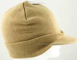 1 Piece Men's Boy's Winter Ski Sport Beanie Knit Hat Cap with Visor