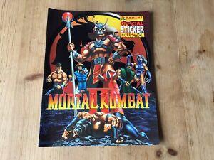 Vintage Mortal Kombat 2 II Panini Sticker Album Book Empty Retro 1992 Rare