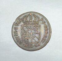 1789 Switzerland - Prussian Neuchatel 1/2 Batzen, KM-47.