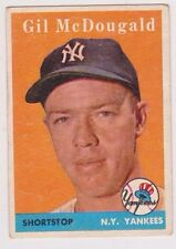 1958 Topps #20 Gil McDougald - New York Yankees, Excellent Condition!