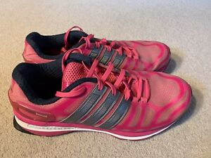 Adidas Sonic Boost ladies running trainers in pink/silver - size 6.5