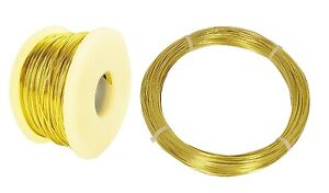 Yellow Brass Wire Round ( Dead Soft ) 12 To 26 Ga ( 1 Oz. Spool Or Coil /