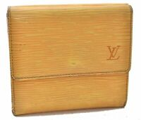 Louis Vuitton Epi Porte Monnaie Billets Cartes Credit Wallet Yellow LV A9064