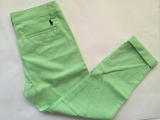 NWT Women's Polo Ralph Lauren Sports Capri Pants Lime Green- Size 4
