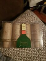 Chateau Mini Wine Bottle Scented Candles Set of 4 new seem old