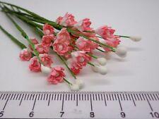 30 Pink Mulberry Paper Flowers Dolls House Miniature Garden