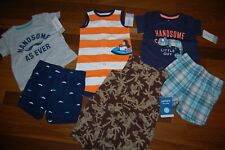 NWT Baby Boys 6m 6 MONTHS CARTER'S  6 piece Spring Summer Lot