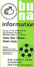DDR-Liga 80/81 ZEPA Química Buna Schkopau-BSG Chemie Leipzig 14.03.1981