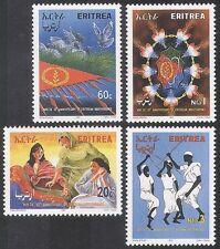 ERITREA 2001 INDIPENDENZA/colombe/Bandiera/ballerini/Api/Donna/Birds/INSETTI 4v n36531