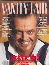 APRIL 1994 VANITY FAIR vintage fashion magazine JACK NICHOLSON