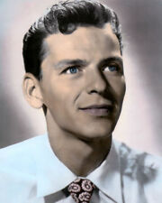"""FRANK SINATRA HOLLYWOOD ACTOR MOVIE STAR 8x10"""" HAND COLOR TINTED PHOTOGRAPH"""