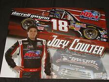 2013 JOEY COULTER #18 DARRELL GWYNN FOUNDATION NASCAR POSTCARD