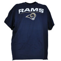 NFL New Los Angeles Rams Crew Neck Blue Navy Men Tshirt Tee Short Sleeve