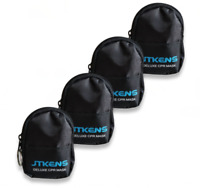 5pcs CPR Face Mask With One-way Valve Gloves and Wipes Keychain CPR Training