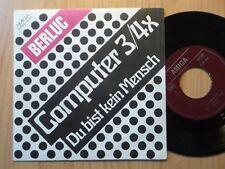 """BERLUC DDR AMIGA 7"""": COMPUTER 3/4x /DU BIST KEIN MENSCH (456374)"""