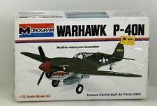 NIB Vintage Monogram Warhawk P-40N 1/72 6792 Model Kit WW2 Fighter Plane Sealed