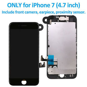 For iPhone 7 Full Complete LCD Display Digitizer Touch Screen Replacement Camera