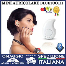 AURICOLARE BLUETOOTH CUFFIA BIANCO WIRELESS MICROFONO UNIVERSALE