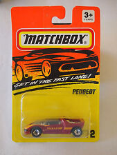 Matchbox #72 Peugeot Red Quassar