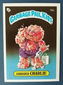 CorrodedCharlie 19a UK Garbage Pail Kids Series 1(1985)Topps~NMT/MINT~Pack Fresh