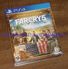 Far Cry 5 GOLD Edition w/Deluxe Pack, Season Pass & More (PS4) BRAND NEW &SEALED