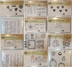 Stampin' Up Block Stamps Singles & Sets, Many Retired - EUC - You Choose
