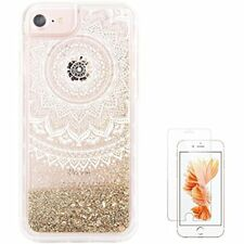 IPhone 6S Case iPhone 7 UCOLOR Gold Glitter Dmask Floral Waterfall Clear Mobile