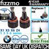 FIZZMO WHITE H8 LED BMW ANGEL EYE BULB 1 E82 E87 E88 3 M3 E90 E91 E92 E93 5 E60