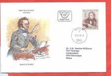 Austria stamps. 1978 Franz Schubert FDC (A525)