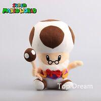 Super Mario Bros. TOAD Toadsworth  Plush Toy Soft Stuffed Doll 10'' Figure NWT