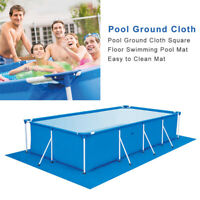 Swimming Pool Ground Cloth Square Pool Floor Mat Safe Folded Multi-size Protect