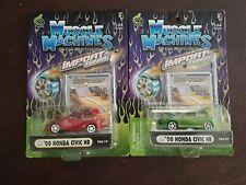 MUSCLE MACHINES - '00 Honda Civic HB - 1/64 DIECAST  set: 2 diffent colors