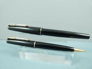 """Vintage Parker 17 Black Fountain Pen & Pencil Set, GT, Un-Inked,Engraved  """"MINT"""""""