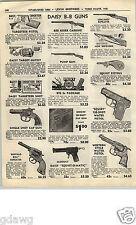 1952 PAPER AD Buffalo Bill Toy Pistol Cap Gun Sheriff Western Daisy Air Rifle BB