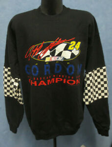 JEFF GORDON NASCAR 1995 CHAMPION XL NUTMEG SWEATSHIRT CREWNECK VINTAGE RETRO VTG