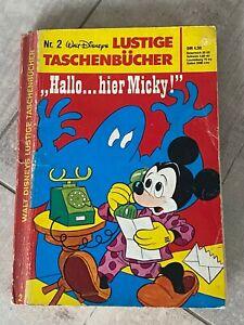 """Lustiges Taschenbuch 4,50 DM 1979 LTB Nr. 2: """"Hallo... hier Micky!"""""""